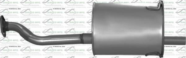 Davico Manufacturing - Direct fit Muffler