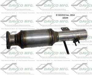 Direct-Fit Converters - CARB - Davico Manufacturing - CARB Exempt Direct Fit Catalytic Converter